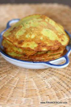 Finti pancake con farina di ceci e zucchine