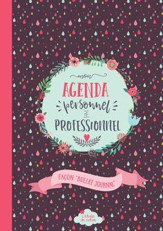 Agenda façon Bujo, version gouttes prune, rose et or. Format A5 , 224 pages. En pré-commande, expéditions prévues à partir du 05/08/2017