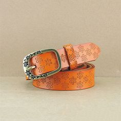 Hot 2017 New Fashion Wide Genuine PU Leather Embossed Popular Ladies Belt Vintage Floral Cow Skin Jeans Belts Women cinto
