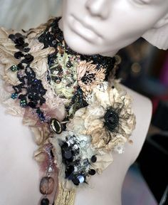 Kris - Belle Epoque I More of my recent creations, dramatic bold details, lavish beadwork . (Hand embroidered collars, layered.)