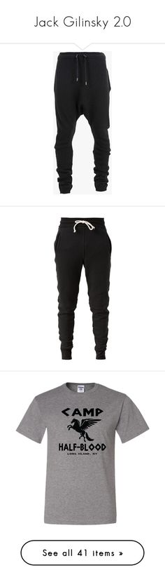 """""""Jack Gilinsky 2.0"""" by thelovelye ❤ liked on Polyvore featuring men's fashion, men's clothing, pants, men, bottoms, sweatpants, black, merino wool mens clothing, balmain mens clothing and men's apparel"""