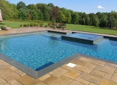 Another great finished pool by the Aqua Doc! This one comes complete with a stylish wet deck.