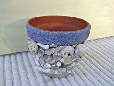Shell Overload Clay Pot | Hand-Made Ocean Art | OceanArtByDiane on Etsy