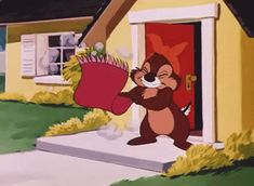 Chip y Chop, sus mejores Gifs Walt Disney Characters, Disney Films, Disney And Dreamworks, Cartoon Characters, Gif Lindos, Chip And Dale, Christmas Post, Good Morning Wishes, Cute Little Animals