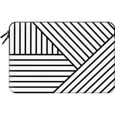 Macbook Sleeve - Stripes ($60) ❤ liked on Polyvore featuring accessories, tech accessories and macbook sleeve