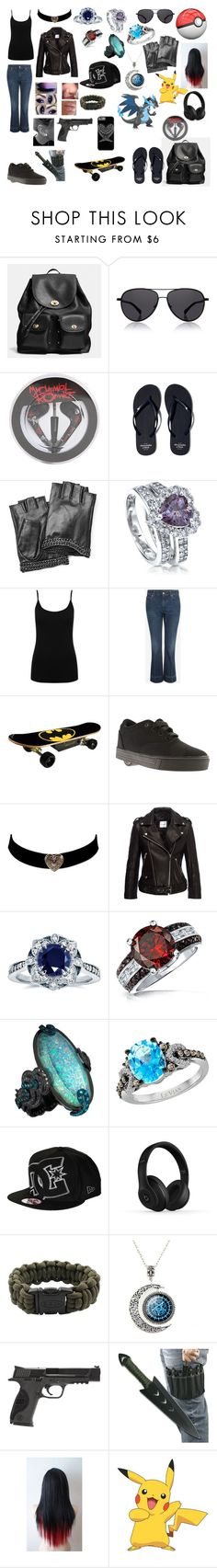 """""""Pokemon Trainer oc"""" by livyv123 ❤ liked on Polyvore featuring Coach, The Row, Abercrombie & Fitch, Karl Lagerfeld, BERRICLE, M&Co, Alexander McQueen, Maverix, Heelys and Kobelli"""