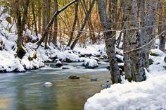 Etna Creek after a March snow-beautiful reminder of where I grew up!