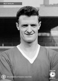 Billy Whelan was an Irish striker who played for between 1953 and The prolific forward scored an impressive 52 goals in 98 appearances for the Old Trafford club before he tragically lost his life in the Munich Air Disaster. Manchester United Legends, Manchester United Football, Fifa, Munich Air Disaster, Man Utd Squad, Sharon Jones, Bobby Charlton, Premier League Champions