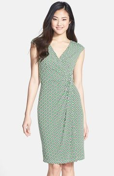 Maggy London 'MJ' Print Draped Jersey Dress (Regular & Petite) available at #Nordstrom