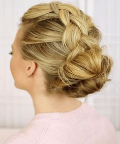 Dutch Braid Bun Hairstyles.