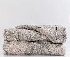 Trapunta matr. cotone percalle Versailles cioccolato - 260x270 cm