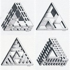 #isometric #impossible #penrosetriangle #mathart #regolo54 #escher #oscareutersvärd #triangle #geometry #symmetry