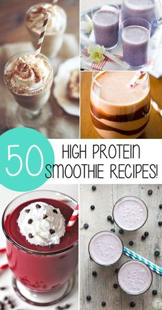 50 High Protein Smoothie Recipes To Help You Lose Weight!
