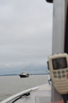 Water quality monitoring on the Chesapeake Bay following Hurricane Irene.