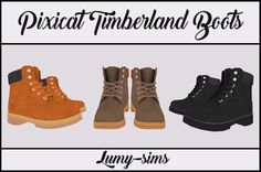 Sims 4 CC's - The Best: TS3 Timberland Boots Converted for Kids and Adults...
