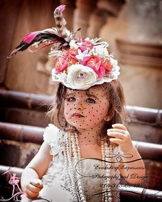 """High Tea""... The Elegant and Fabulously Girlie Mini Top Hat"