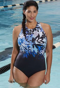 146c1c68bd Chlorine Resistant Reservoir High-Neck Swimsuit Swimwear Sale, Swimwear  Clearance, Plus Size Swimwear