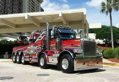"""PETERBILT - american tow trucks...can i park this in the """"parent with child"""" parking space at walmart?"""