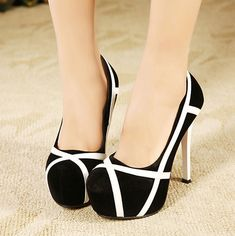 Women-Sexy-Contrast-Color-Square-Toe-Stilettos-Pumps-Platforms-Party-High-Heels