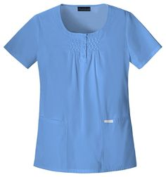 Cherokee Pin tuck Top Women's Scrub Top in 6 Colors