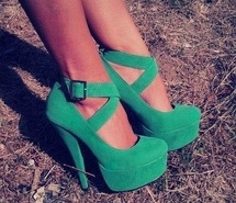 that is it...I will just have to start a savings account for shoe purchases only!  these green babies are sexy!