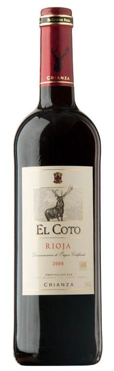 El Coto Crianza 2008. Rioja Wine, Red And White Roses, Black Grapes, Spanish Wine, Types Of Wine, Wine Cheese, E Commerce, Wine Time, Wine Label