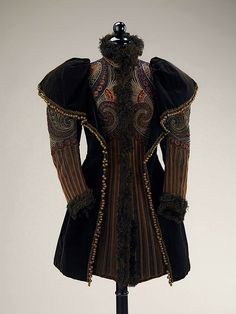 Embroidered evening jacket, 1893