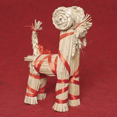 Straw Figure - Standing Sheep Straw Decorations - Gifts, Easter - By Straw Products - 644527108667 at Polart - PolandByMail