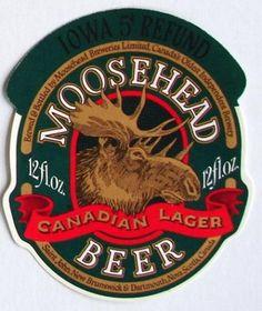Vintage Beer Bottle Labels   MOOSEHEAD, Vintage Canadian Beer Bottle Label…