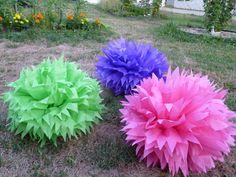 12 Big Pom Poms Party Celebration Tissue Paper Pom by GiftCreation, $62.50