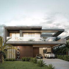 Modern Exterior House Designs, Modern House Facades, Modern Villa Design, Modern Architecture House, Exterior Design, Contemporary Design, House Outside Design, House Front Design, Small House Design