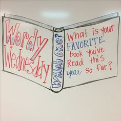 what is your favorite book you've read this year so far? Daily Writing Prompts, Teaching Writing, Student Teaching, 5th Grade Classroom, Future Classroom, Classroom Whiteboard, Leadership, Morning Board, Morning Activities