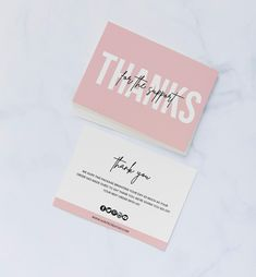 If you're a business owner who loves to rock an insta-worthy brand design, you'll definitely want to say thank you in style.  This thank you card template is a beautiful addition to your product packaging and will happily stun everyone that opens your parcel on arrival!   #businessthankyoucard #thankyoucard #thankyou #thanksforpurchase #purchasecard #businessbranding #DIYcard #editabletemplate