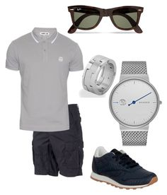 """City Walker Shopping"" by bvn01 ❤ liked on Polyvore featuring SONOMA Goods for Life, McQ by Alexander McQueen, Reebok, Ray-Ban, Skagen, West Coast Jewelry, men's fashion and menswear"