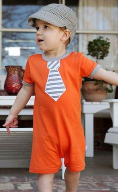 RuggedButts Orange Mini-Man Romper  $24.50