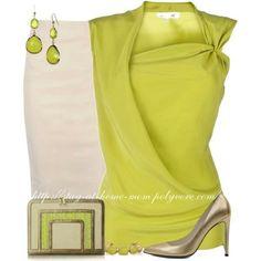 Elegante blusa verde limón