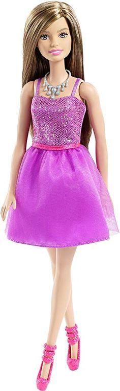 Mattel Barbie Glitzer Kleid lila - Barbie Puppen Geschenkideen Geschenk  Mädchen Kinder zu Weihnachten Geburtstag Kindergeburtstag dolls barbie  möbel basteln ... bc43fa1b23