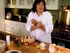"""Ina Garten's """"Perfect Roast Chicken""""... and she isn't lying! This has become my favorite roast chicken recipe. I add potatoes, a few extra garlic cloves/onion and have also thrown in some whole mushrooms the last 15 min. of cooking time and you have a complete meal. My family LOVES it!"""