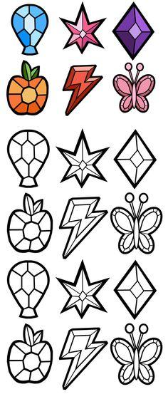 Elements of Harmony Gems -Free- by Akili-Amethyst.deviantart.com on @deviantART