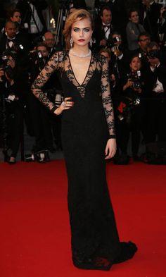 Phenomenal Black Laced, Red Carpet Gown #Dress #Celebrity #Fashion
