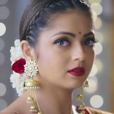 Vivian Dsena, Drashti Dhami, Indian Movies, Traditional Looks, Office Wear, Gemstone Rings, Characters, Drop Earrings, Gemstones