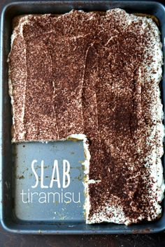 Slab Tiramisu // summer's most luxurious no-bake dessert, simplified via The View from Great Island