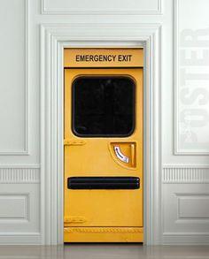 "GIANT Door Wall STICKER Emergency Exit decole film poster 31x79""(80x200 cm) | pulaton - Print on ArtFire"