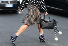 street style, mixed prints, fashion weeks spring summer 2013, netrobe