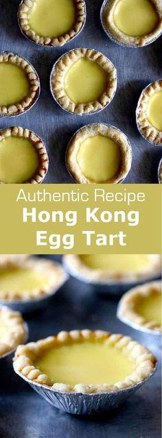Egg tart or dan tat is a delicious Hong Kong egg custard-based pastry that probably originated from Portuguese pastel de nata and English custard tart. #hongkong #china #pastry #dessert #196flavors
