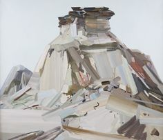 "Claire Sherman, ""Butte"" (2011), oil on canvas, 72″ x 84″"