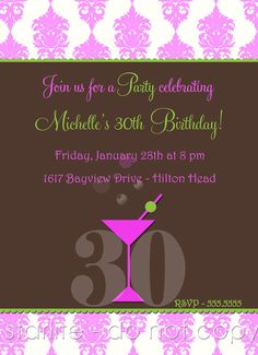 MILESTONE BIRTHDAY INVITATIONS Anniversary Any Accent Color With Photo Printable Files Glitter