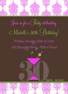 20th 30th 40th 50th 60th 70th 80th Birthday Invitation By Starwedd 1500 Invitations