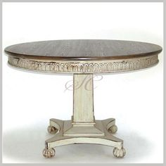 Round Dining Table - Hand Painted - Dining Table