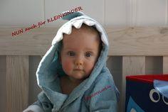 ❤❤❤Bademantel+Hai+Blau+-+Kleinkind/toddler❤❤❤+von+SCHNUFFELINIS+auf+DaWanda.com